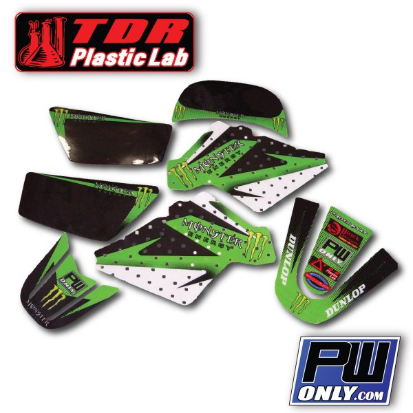 PW 50 Monster green Graphics for bike