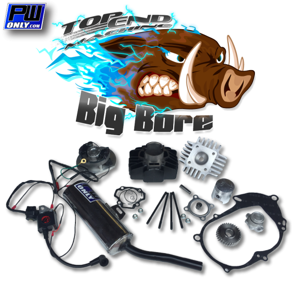 PW50 Big Bore Engine, Silencer, and Ignition Kit