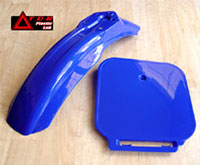 PW80 Blue MX Front Fender and Number Kit