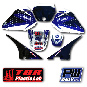 pw 80 yamaha black and blue Graphics for bike