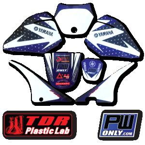 pw 80 yamaha white and blue Graphics for mx bike