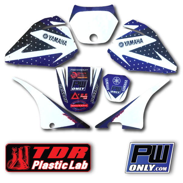 pw 80 yamaha white and blue Graphics for mx bike