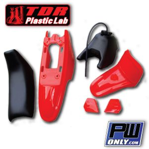 yamaha pw 50 red plastic kit