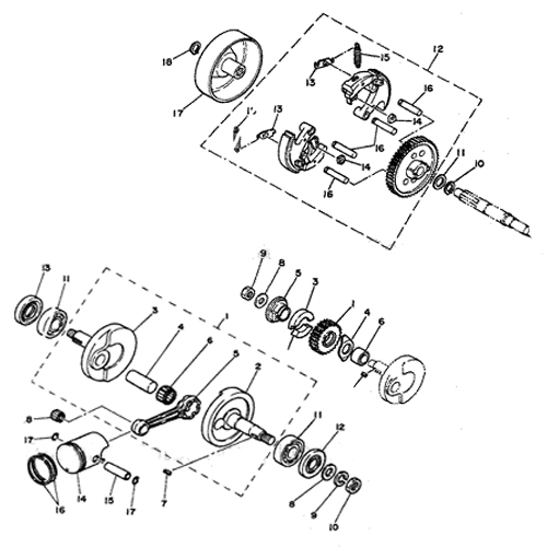 50cc Clutch Diagram
