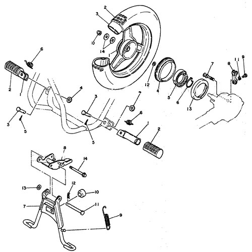yamaha 50cc engine diagram